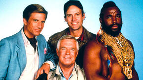 "Photo: Cast of the TV show ""The A-Team"""