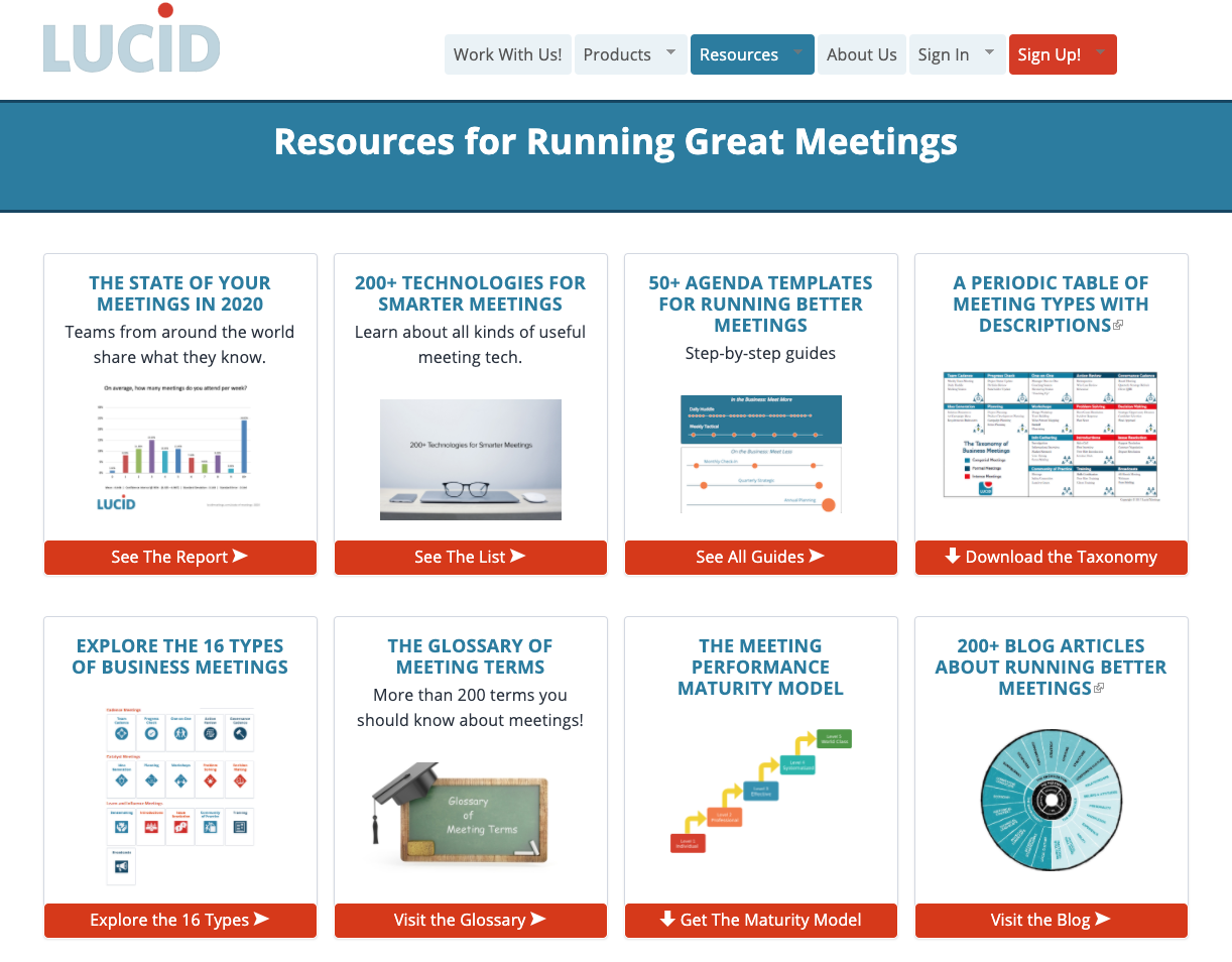 Resources for running great meetings
