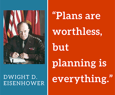 Plans are worthless, but planning is everything.