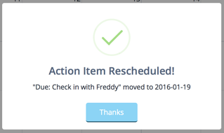 Reschedule action item