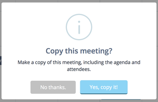 Copy and existing meeting