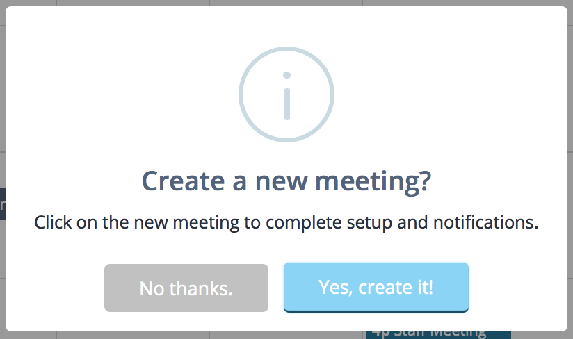 Meeting request confirmation