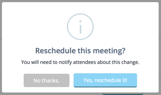 Reschedule meeting