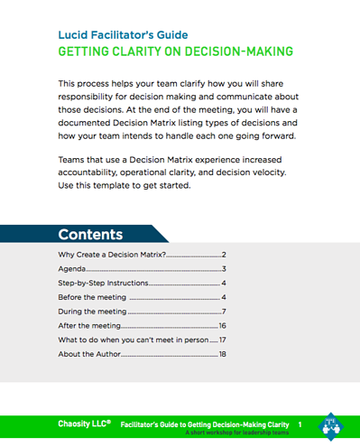 Getting Clarity on Decision Making Guide