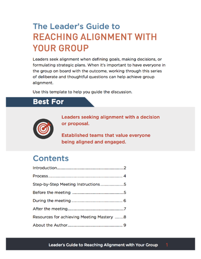 The Facilitator's Guide to Getting Alignment with Your Group