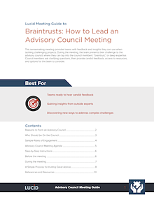 Guide to Braintrust-Advisory Council Meetings