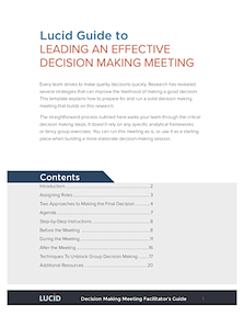 Guide: How to Lead an Effective Decision Making Meeting