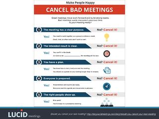 Screenshot of our Cancel Bad Meetings poster