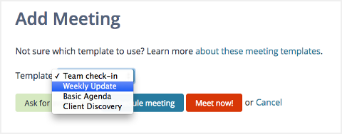 Scheduling a new Lucid Meeting