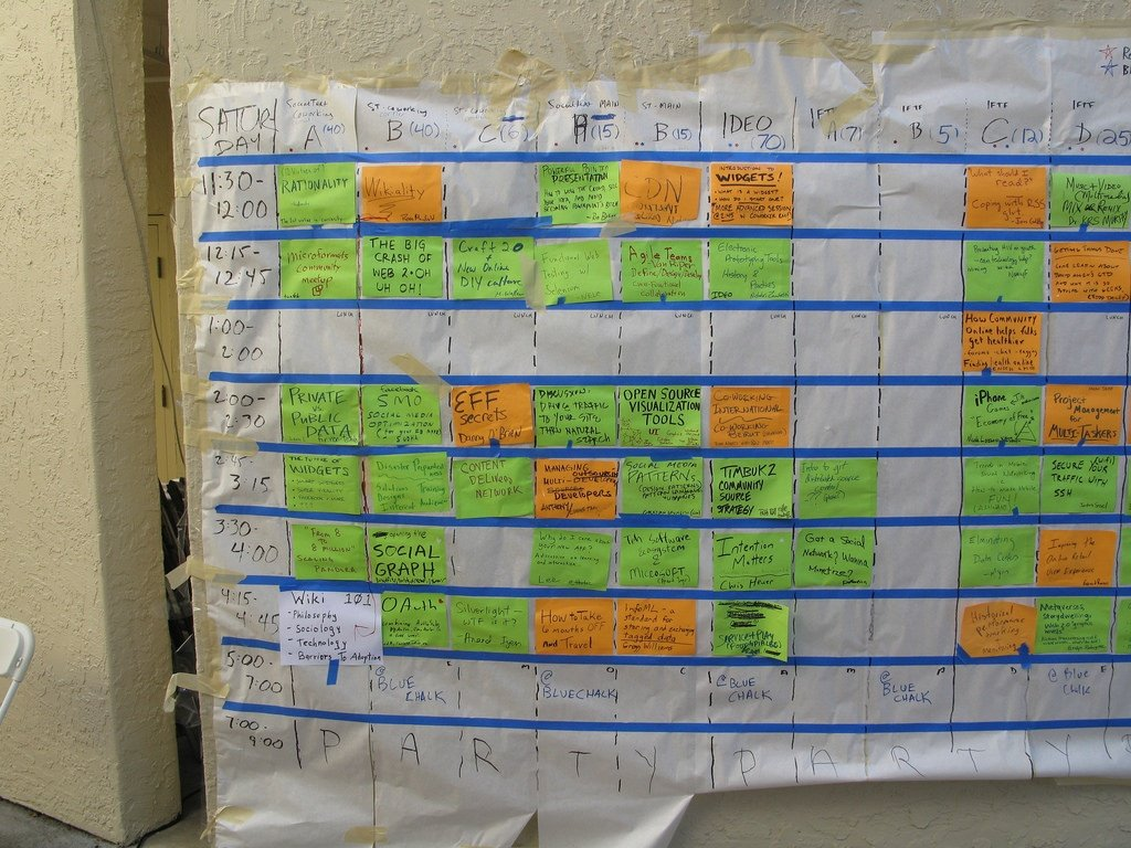 an UnConference schedule