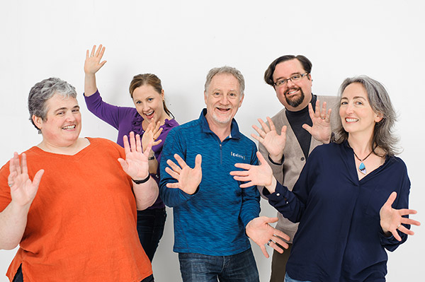 The Lucid Team does jazz hands!