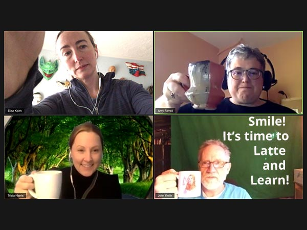 Our Latte & Learn meeting happened online