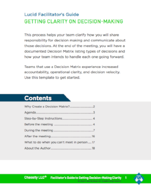Download the Getting Clarity on Decision-Making Facilitator's Guide