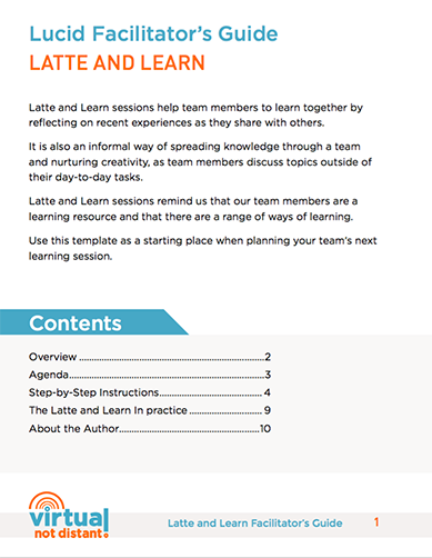 Download the Latte and Learn Facilitator's Guide
