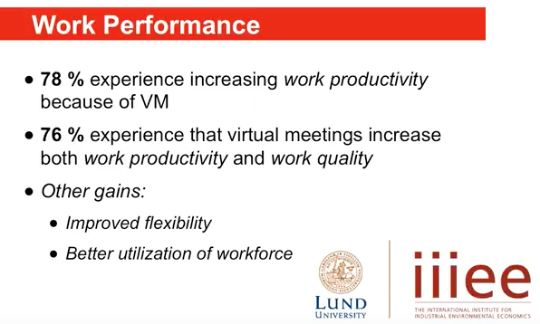Screenshot: 78% report increase in productivity, 76% increase in quality of life