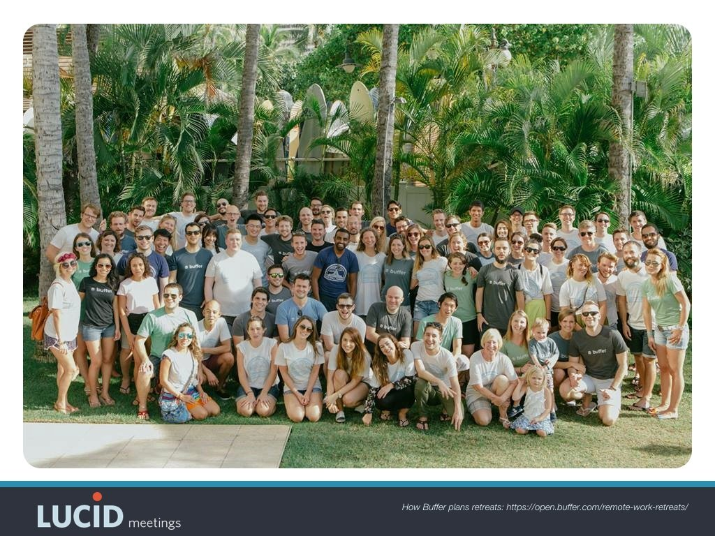 Buffer's team in Hawaii