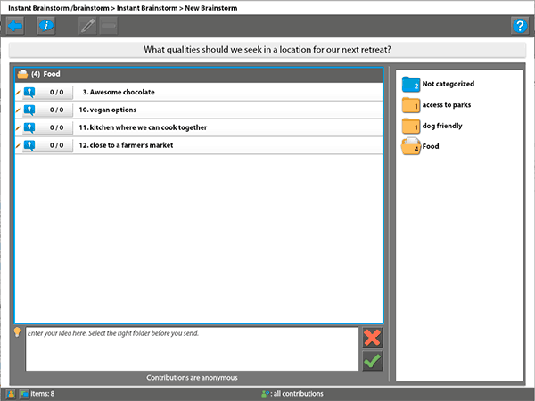 Screenshot of MeetingSphere in our test