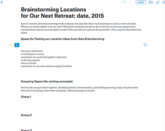 27 Tools for Online Brainstorming and Decision Making in Meetings – Small Group Evaluation Form