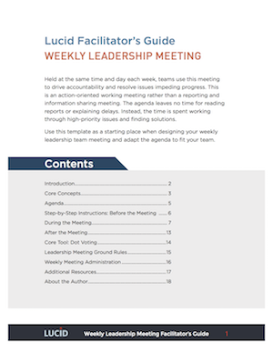 Team Meeting Agenda Sample | The 4 Meeting Agendas That Drive Strategic Execution Plus